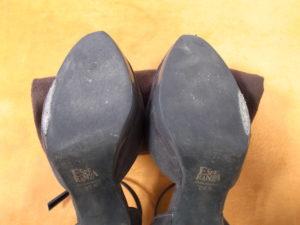靴底を修理する前