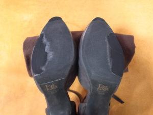 靴底を補正した後