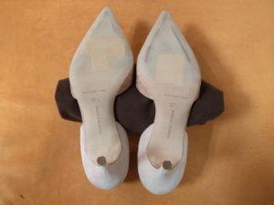 マノロ・ブラニク靴底補強前