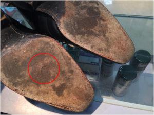 ポール・スチュワートの靴底修理前2