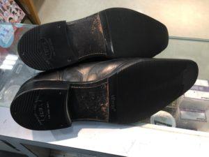 ポール・スチュワートの靴底修理後