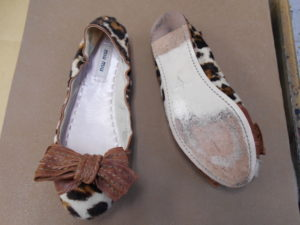 ミューミューの靴底補強前