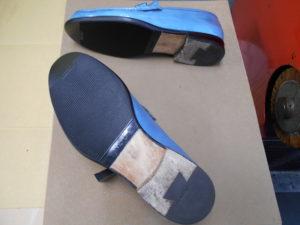 フェラガモ靴底補強後
