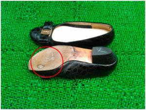 フェラガモ靴底修理前